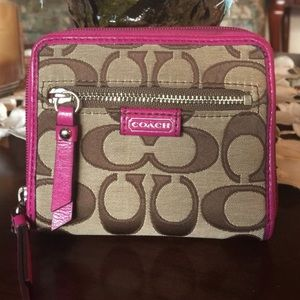 Coach daisy signature poppy wallet